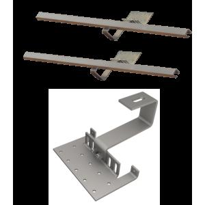 Zestaw montażowy rozszerzeniowy do 1 kolektora WEBER SOL ECO 2, dach skośny, standard
