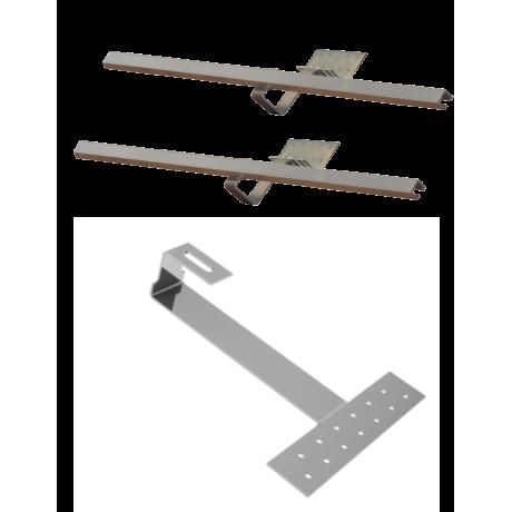 Zestaw montażowy rozszerzeniowy do 1 kolektora WEBER SOL ECO 2, dach skośny, karpiówka