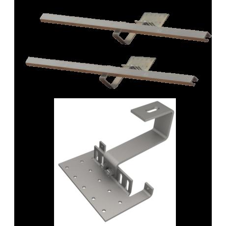 Zestaw montażowy rozszerzeniowy do 1 kolektora WEBER SOL ECO 2,0 dach skośny, standard
