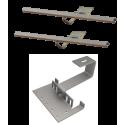 Doplňková montážní sada pro 1 kolektor WEBER SOL ECO 2, šikmá střecha, standard