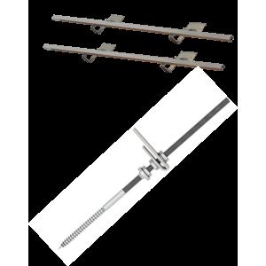 Montážní sada pro 2 kolektory WEBER SOL ECO 2, šikmá střecha, univerzální