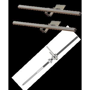 Doplňková montážní sada pro 1 kolektor WEBER SOL ECO 2, šikmá střecha, univerzální