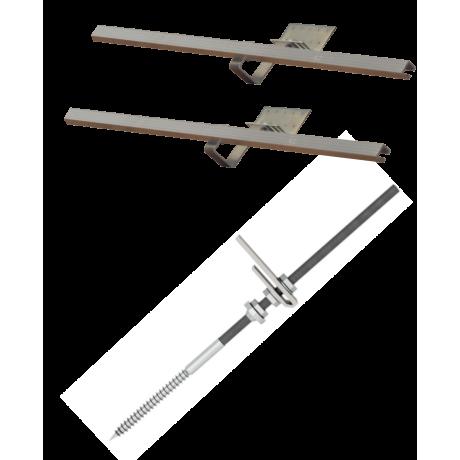 Zestaw montażowy rozszerzeniowy do 1 kolektora WEBER SOL ECO 2,0 dach skośny, uniwersalny
