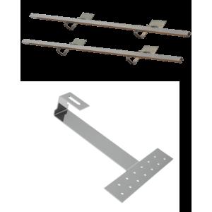 Montážní sada pro 2 kolektory WEBER SOL ECO 2, šikmá střecha, bobrovka