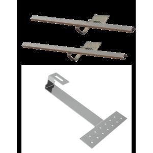 Doplňková montážní sada pro 1 kolektor WEBER SOL ECO 2, šikmá střecha, bobrovka