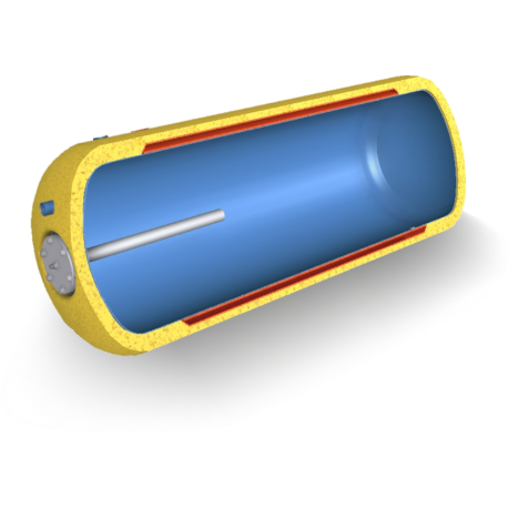 Poziomy 80L dwupłaszczowy ogrzewacz wody