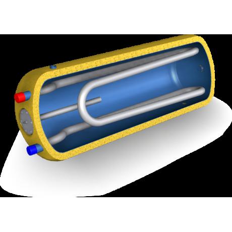 Ležatý ohřívač vody 140 litrů sdvojitým výměníkem