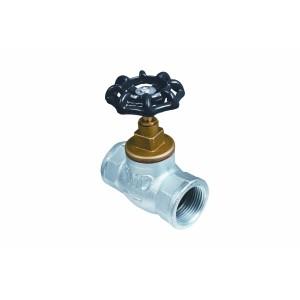 """Průchodový ventil litinový 1"""" smosaznou hlavicí"""