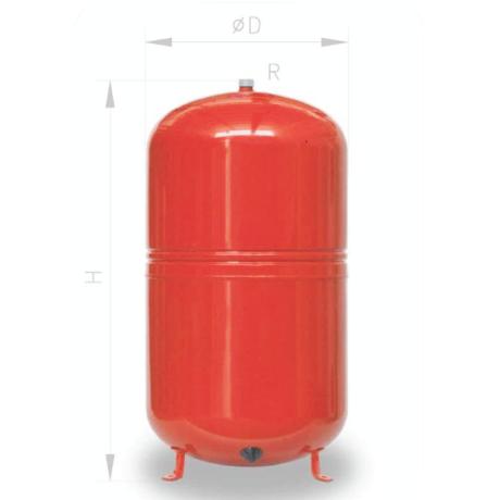 Naczynie przeponowe 50L do C.O. Ibaiondo