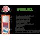 Zasobnik c.w.u. emaliowany pionowy 1000 l z 1 wężownicą WEBER W1 1000