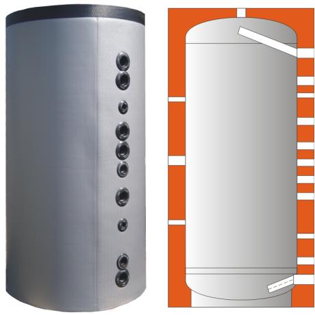 Zásobník pro akumulaci bez výměníků WEBER W4 1000