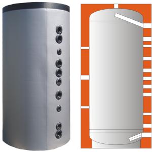 Zásobník pro akumulaci bez výměníků WEBER W4 2000
