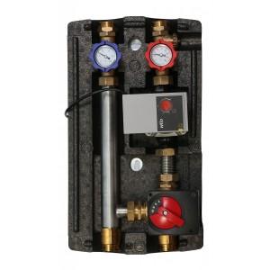 Группа насосная для отопления пола WILO YONOS PARA 15/6 RKC, с трехходовым смесительным клапаном и приводом