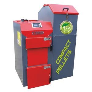 Kocioł KBO COMPACT PELLETS o mocy 34 kW na agro-pellet i pellet