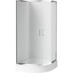 Sprchový kout DEANTE FUNKIA KYP 652K, půlkruhový (80 cm), matné sklo