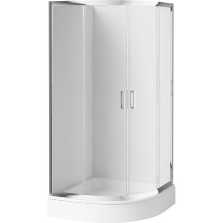 Sprchový kout DEANTE FUNKIA KYP 052K, půlkruhový (80 cm), průhledné sklo