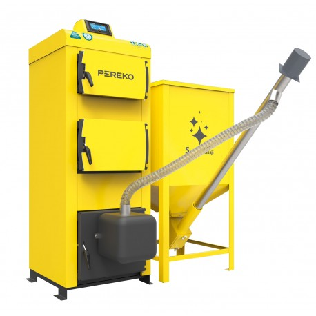 Kocioł na pellet KSR Beta Pelet PEREKO 20 kW z podajnikiem ślimakowym