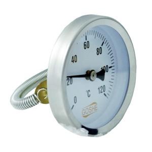 Termometr 63mm 0-120'C opaskowy