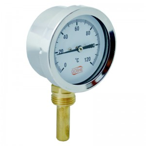 Termometr 63mm 0-120'C osiowy radialny