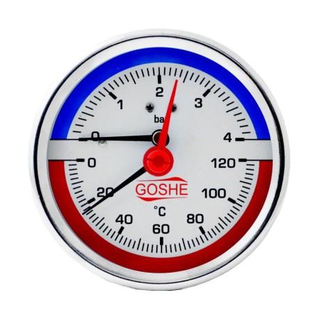 Termomanometr 80mm tylny