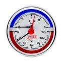 Termomanometr 0-6bar 80mm zadní