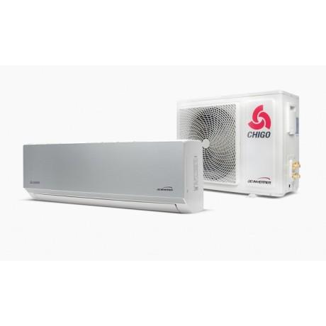 Klimatyzator ścienny split CHIGO Panel 138 Silver Steel 5,3 kW