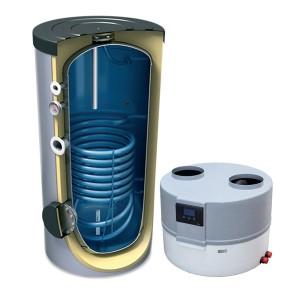Pompa ciepła do podgrzewu wody użytkowej DROPS M 4.1 + zasobnik z 1 wężownicą