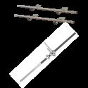 Zestaw montażowy do 2 kolektorów WEBER SOL 2,8 dach skośny, uniwersalny