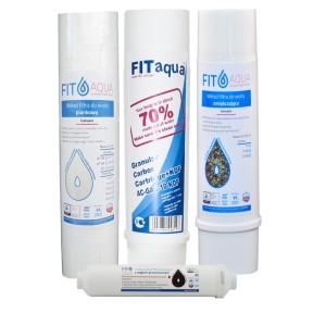 Półroczny zestaw wkładów dla filtra kuchennego 4-stopniowego RO4 FITaqua
