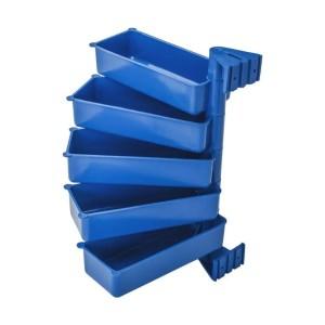 Pojemniki obrotowe PIVOT (zestaw 5 szt.) niebieskie