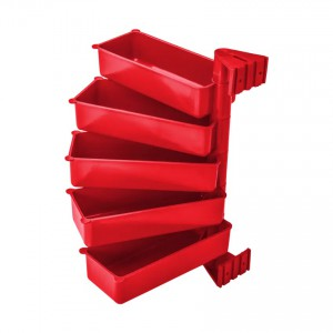 Pojemniki obrotowe PIVOT (zestaw 5 szt.) czerwone
