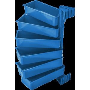Pojemniki obrotowe PIVOT (zestaw 6 szt.) niebieskie