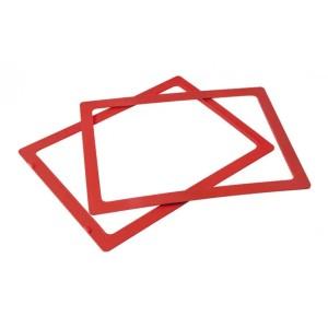 Ramka do sztaplowania skrzynek magazynowych typ 2 czerwona