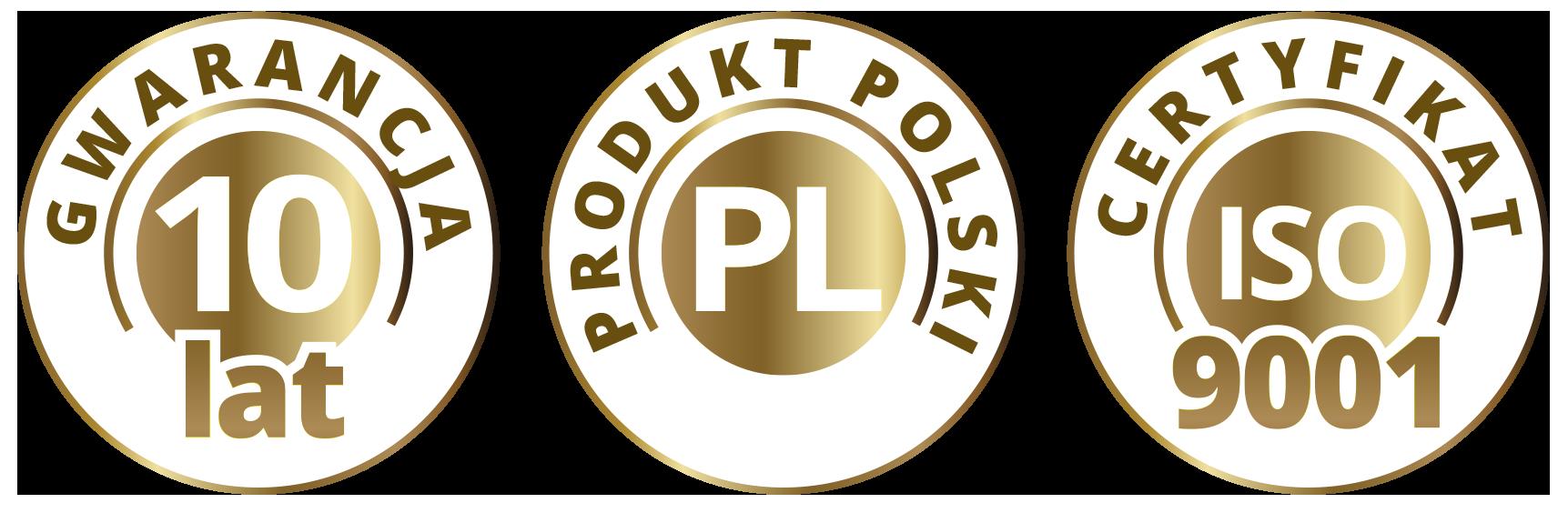 Gwarancja jakości, certyfikat ISO, polska produkcja