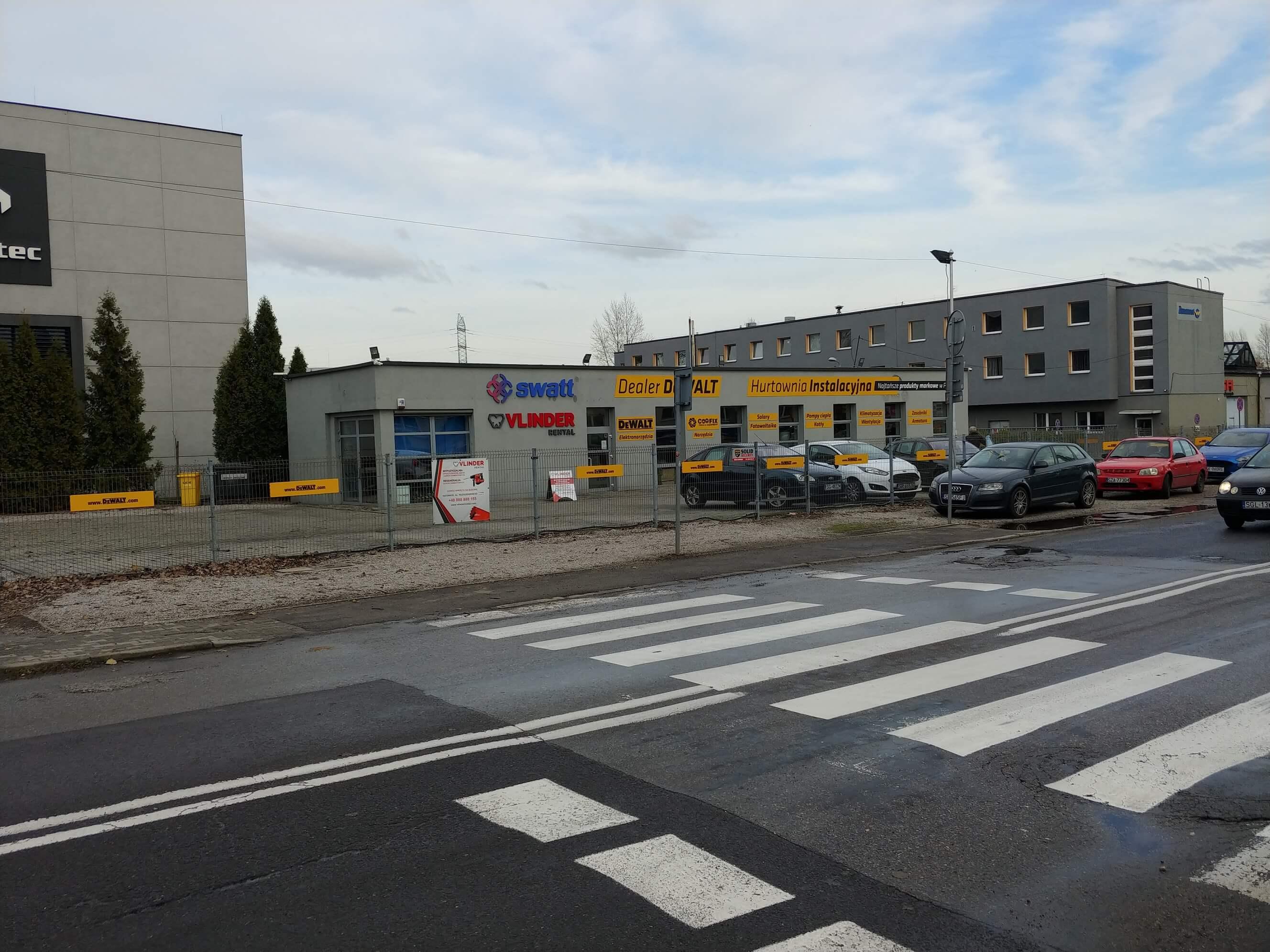 Sklep Swatt w Katowicach - budynek z zewnątrz