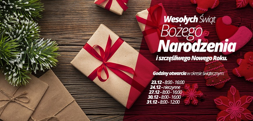 Życzenia świąteczne oraz godziny pracy hurtowni Swatt.pl 2019