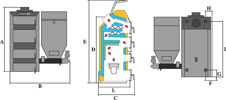 Wymiary KBO EKO LUX BIO - szablon