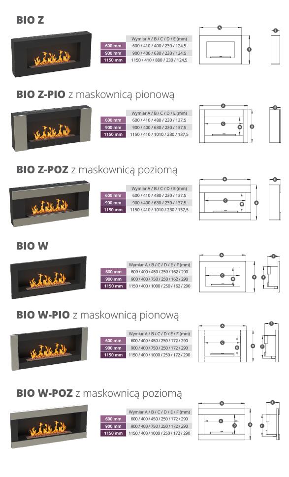 Rodzaje biokominków WEBER BIO