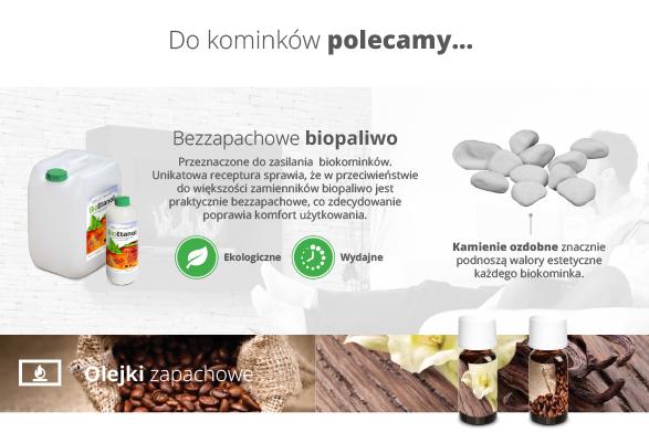 Asortyment dodatkowy do biokominka - zestaw