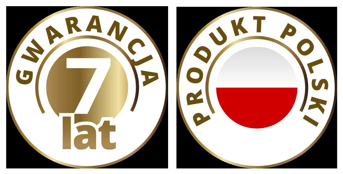 Gwarancja 7 lat + Polski produkt